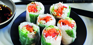 Fresh Noodle and Vegetable Rolls