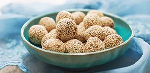Date, Cashew and Sesame Balls